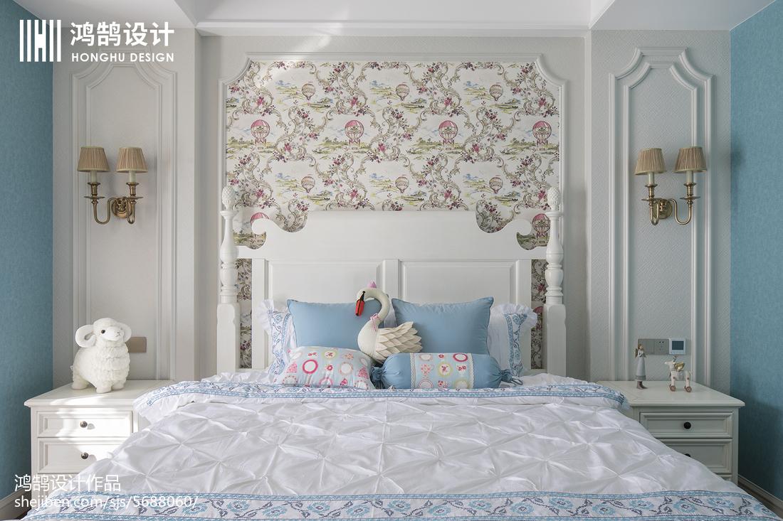 精美美式三居卧室效果图片卧室床美式经典卧室设计图片赏析