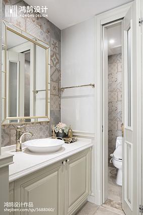 253平美式轻奢卫浴设计卫生间美式经典设计图片赏析