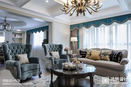 热门106平米三居客厅美式设计效果图