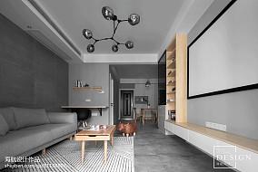 精选75平米二居客厅北欧装修效果图片