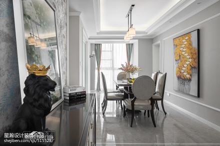 大气113平美式四居餐厅效果图片大全厨房