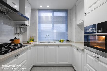 典雅146平美式四居厨房效果图片大全餐厅