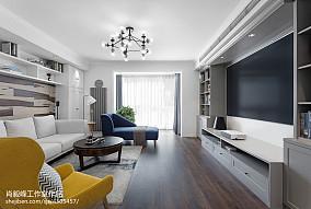 明朗现代客厅设计实景图