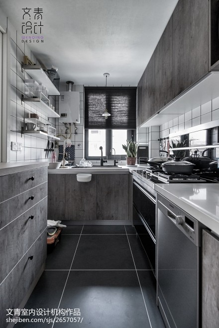 温柔北欧风厨房设计餐厅