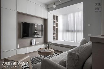 温柔北欧风电视背景墙设计客厅
