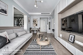 2018精选77平米二居客厅北欧实景图