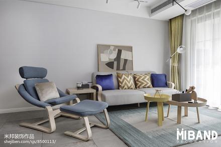 热门北欧小户型客厅设计效果图一居北欧极简家装装修案例效果图