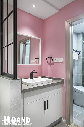 华丽38平北欧小户型卫生间装饰图卫生间1图北欧极简设计图片赏析