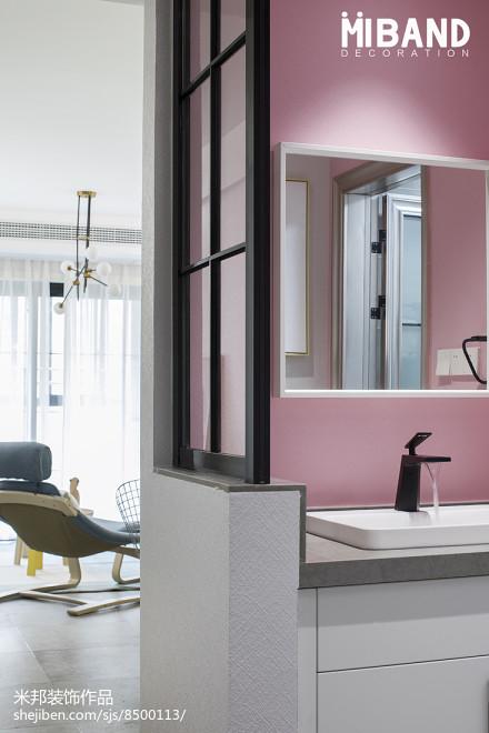 简洁33平北欧小户型卫生间设计图卫生间2图