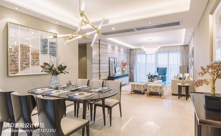 明亮318平中式样板间餐厅设计美图厨房
