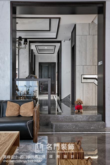 2018113平米中式别墅客厅装修实景图片大全