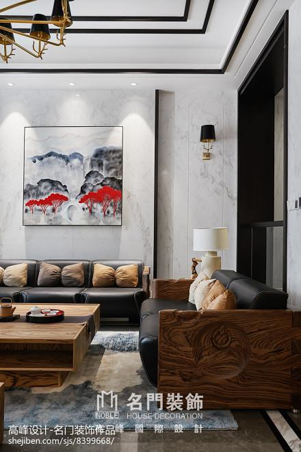 精选134平米中式别墅客厅装修图