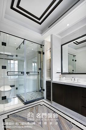 2018面积119平别墅卫生间中式装修设计效果图片大全卫生间中式现代设计图片赏析