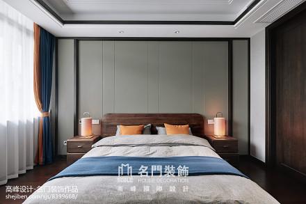 2018精选面积131平别墅卧室中式装修效果图片大全卧室