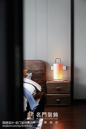 2018大小124平别墅卧室中式装修实景图片家装装修案例效果图