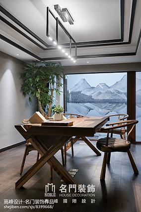 123平米中式别墅休闲区装修欣赏图片大全家装装修案例效果图
