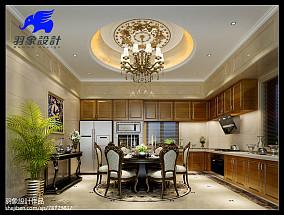 热门138平方欧式别墅餐厅效果图片