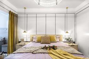 精美100平米三居卧室美式效果图片大全