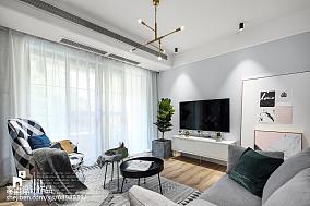 2018102平米三居客厅北欧效果图片大全