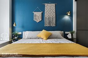 2018精选面积86平欧式二居卧室装修效果图片大全二居欧式豪华家装装修案例效果图
