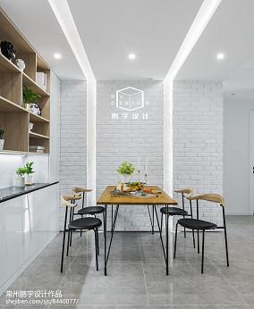 热门面积78平欧式二居餐厅装修图片欣赏二居欧式豪华家装装修案例效果图