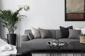 2018精选面积87平欧式二居客厅装修实景图片大全