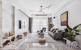 面积82平欧式二居客厅效果图片欣赏
