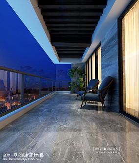 摩登新中式阳台中式现代设计图片赏析