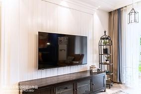 热门四居客厅美式装修效果图片