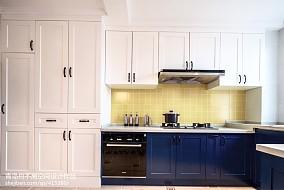质朴97平美式四居厨房设计图