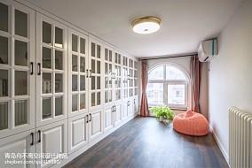 热门面积135平美式四居书房装饰图片