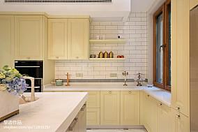 精选面积133平别墅厨房美式装修设计效果图