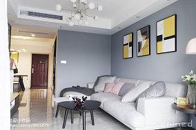2018精选面积77平北欧二居客厅装饰图片大全