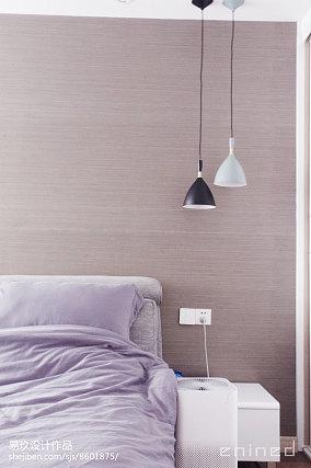 2018精选面积74平北欧二居卧室装修设计效果图片