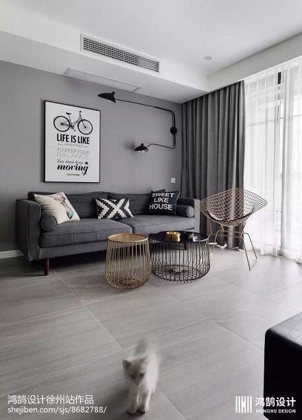 精美面积84平北欧二居客厅效果图片大全客厅