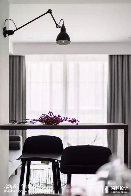 精美面积86平北欧二居餐厅装修图