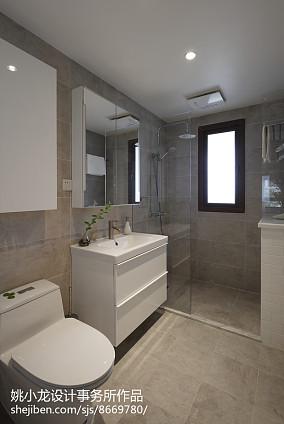 精美面积75平北欧二居卫生间装修效果图片欣赏