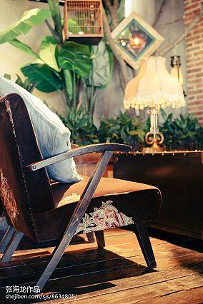 格调复古文艺风客厅设计效果图