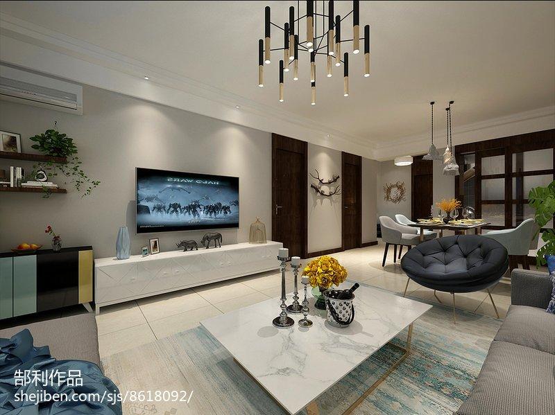装电视背景墙客厅现代简约客厅设计图片赏析
