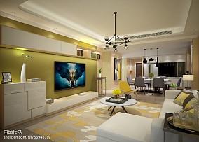 现代客厅电视背景墙装修效果图片