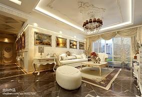 热门三居客厅欧式装修实景图片大全