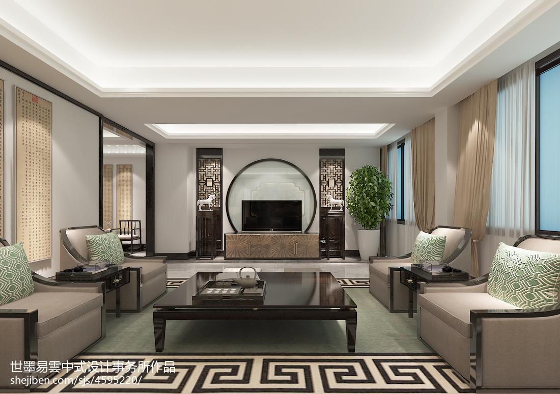 质朴298平中式别墅客厅装修美图客厅中式现代客厅设计图片赏析