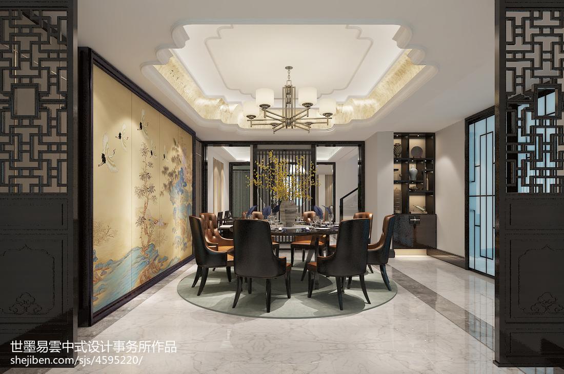 质朴616平中式别墅餐厅装饰美图厨房中式现代餐厅设计图片赏析