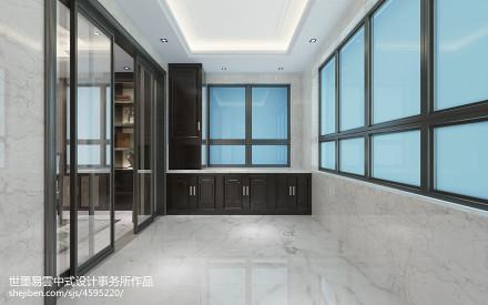 质朴786平中式别墅阳台设计效果图阳台