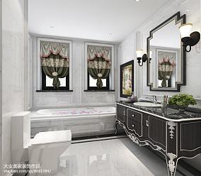 大气300平欧式别墅卫生间设计效果图