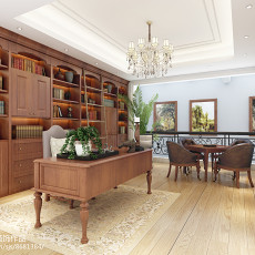 质朴282平欧式别墅书房图片大全