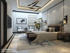 质朴703平中式别墅卧室图片大全