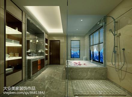 轻奢297平中式别墅卫生间设计图卫生间