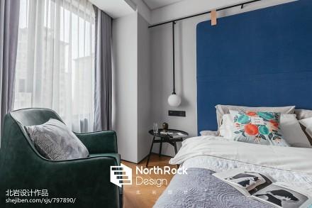 浪漫112平北欧三居卧室设计图卧室