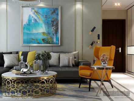 2018精选107平米三居客厅新古典欣赏图片三居美式经典家装装修案例效果图